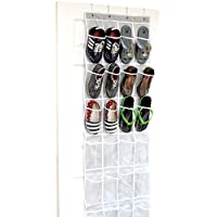 24 Pockets - SimpleHouseware Crystal Clear Over the Door Hanging Shoe Organiz...