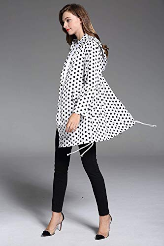 Elodiey Funcional Impermeable Blanco Impermeab Parka Lluvia Chaqueta De Mujer Para wFO4Fv
