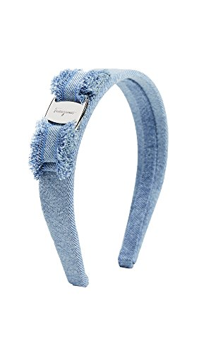 Salvatore Ferragamo Women's Denim Vara Bow Headband, Denim, One Size by Salvatore Ferragamo