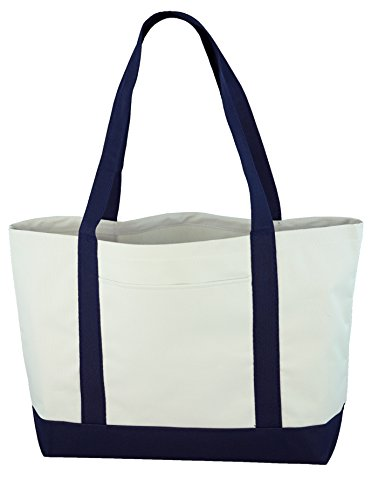 Daily Tote (White/Navy) by Ensign Peak (Image #1)