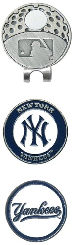 Yankees York Ball New (MLB New York Yankees Cap Clip With 2 Golf Ball Markers)