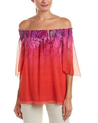 Elie Tahari Womens Silk Top, L, Pink ()