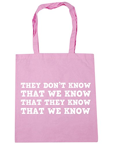 HippoWarehouse Gym 10 Classic Pink knowthat we Beach they They know x38cm don't litres 42cm know Shopping Tote we know that that Bag UORnxUrwq