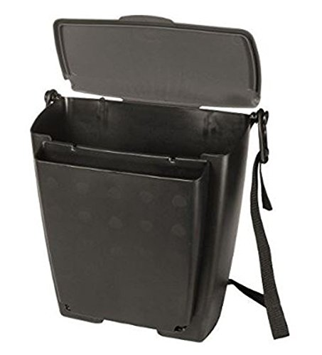 Rubbermaid Automotive Hanging Trash Can with Flip Top Lid: Leakproof Car Garbage Bin/Waste Basket Organizer Caddy 3317-20