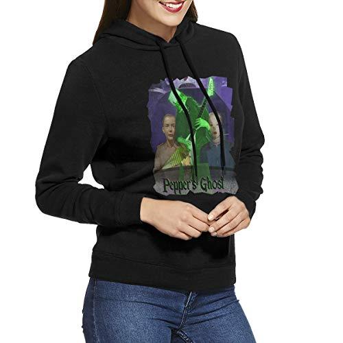 (RHZTPYRDE Buckethead Pepper's Ghost Women's Hooded Sweatshirt Black)