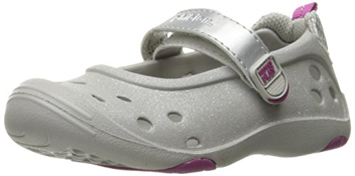 Stride Rite Made 2 Play Phibian Mary Jane Water Shoe (Toddler/Little Kid), Silver Glitter, 3 M US Little Kid