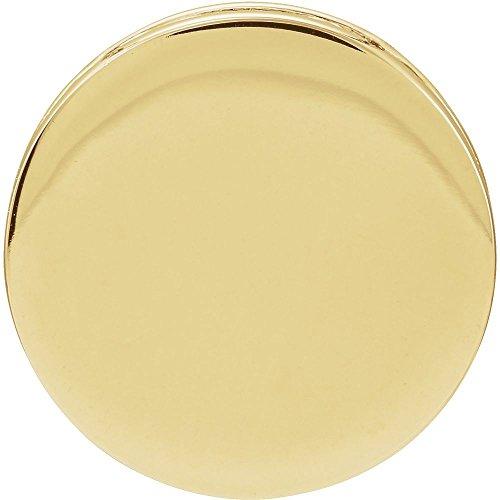 14K Yellow Gold Engravable Scroll Disc Pendant Slide 14k Yellow Gold Scroll