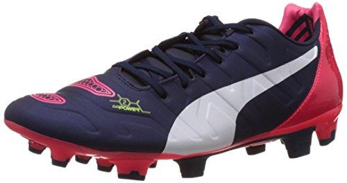 01 2 2 Football Blau Peacoat Evopower de Puma Plasma Bleu white Chaussures bright FG Homme qp6z5E