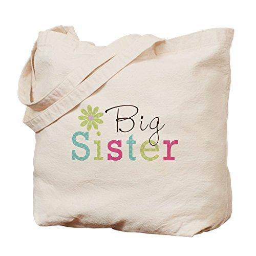 Big Sister Natural - CafePress - Big Sister Flower - Natural Canvas Tote Bag, Cloth Shopping Bag