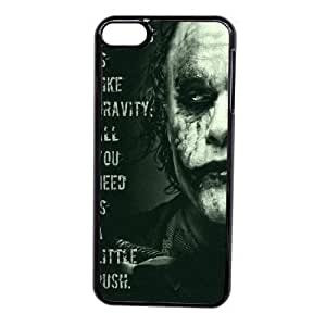 Custom made Case,Joker Feeing crazy Cell Phone Case for iPod touch 6,Black Case With Screen Protector (Tempered Glass) Free S-7257253