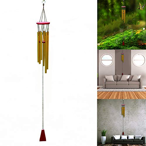 - JHFUH Wind Chimes Aluminum Tubes Hanging Ornament Hanging Wind Chimes Home Outdoor Garden Yard Decor Necessary Small Decoration for Home Symbol of Good Luck