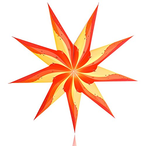 Happy-Sales-HSSL-FRSRED-Fire-Star-Paper-Star-Lantern-Red