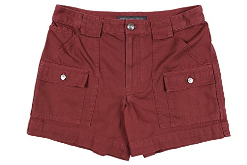 Price comparison product image Marc by Marc Jacobs Women's Red Cotton Twill Cargo Shorts,  8 x 5