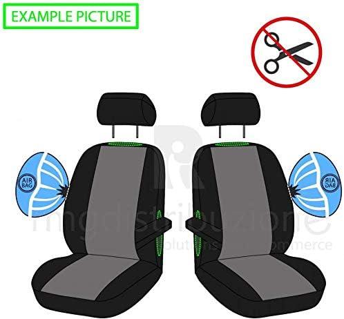 2009 - in Poi IV;V compatibili con sedili con airbag Coprisedili Anteriori L200 Versione con Fori per i poggiatesta e bracciolo Laterale Articolo K79