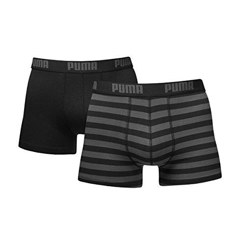 Puma Herren Stripe 15 Boxer 2er Pack, schwarz, M, 651001001