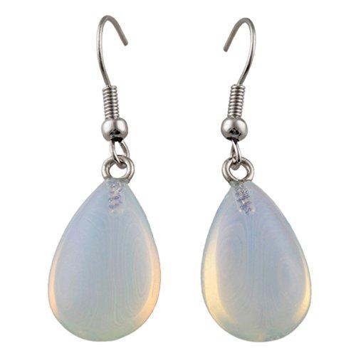 - SUNYIK Opalite Pear-Shape Dangle Earrings for Women