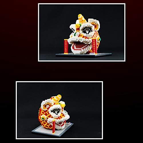 Mini Lion Model 1860pcs Nano Micro-deeltje Bouwstenen 3D Puzzel DIY Animal Blokken, Educatief Speelgoed voor Kinderen en Volwassenen