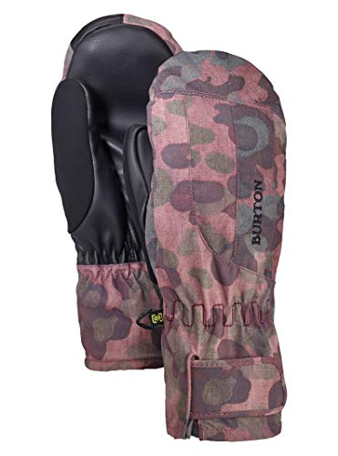 Burton Women's Insulated, Warm, and Waterproof Profile Under Mitten with Touchscreen, Moss Camo, Large