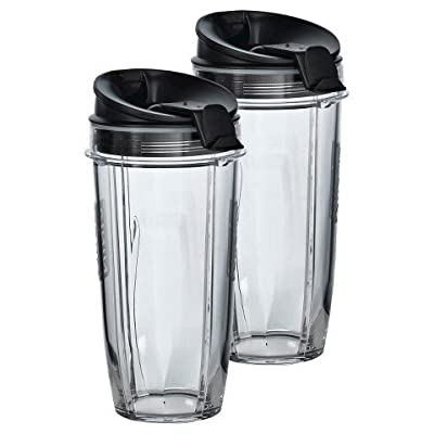 Two 24 oz. Tritan Nutri Ninja Cups with two Sip Seal Lids TRG