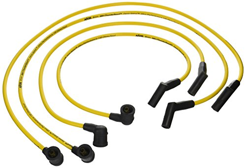 (ACCEL 7931Y 300 Plus ThunderSport Yellow Ferro-Spiral Spark Plug Wire Set)