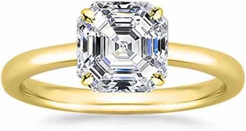 Shopping Asscher - 18k Gold - Wedding & Engagement - Jewelry