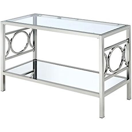 247SHOPATHOME Diaz Contemporary Style Glass Sofa Table