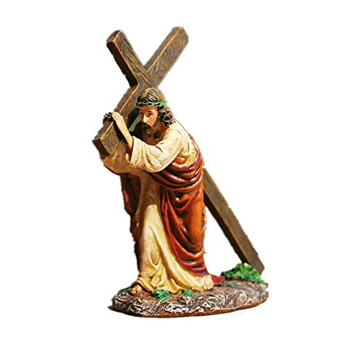 YOURNELO Jesus Carrying His Cross Religion Statue ()