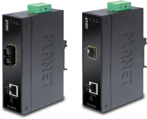 Planet GT-905A Web Manageable Base-T to MiniGBIC (SFP) Gigabit Converter by Planet