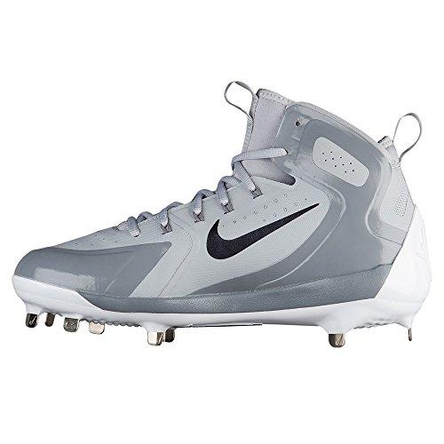 Nike Mænds Alfa Huarache Elite Midten Baseball Klamper Os Ulv Grå / Mtlc Hæmatit-cool Grå-hvid mcNMAx
