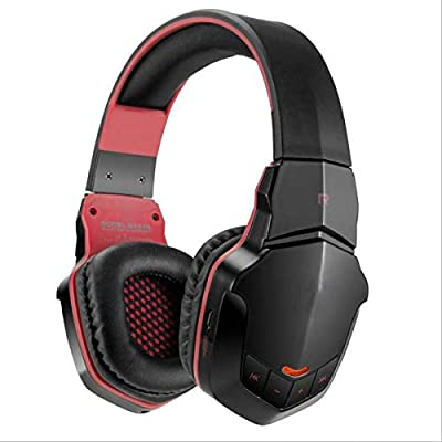 GSUMMER Wireless Gaming Headset Red Excellent Sound with Microphone Stereo 3.5Mm Plug USB Plug Professional Lightweight Gaming Headset Music Call Gaming Headset