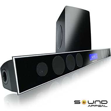2.1 Soundbar w 8.0  wireless subwoofer and MAXBASS chip by Sound Appeal