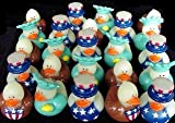 Fun Express 4th of July Patriotic Rubber Duck Ducky Party Favors Toy (2 Dozen)