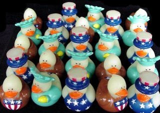 Fun Express 4th of July Patriotic Rubber Duck