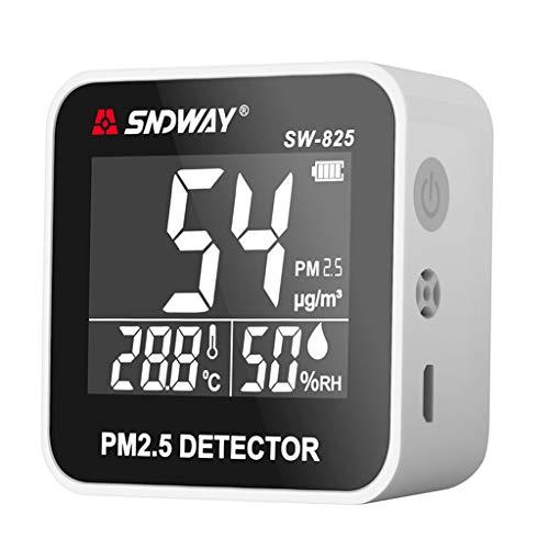 Analyzer Temperature (Peuriy Digital Air Quality Monitor Laser PM2.5 Detector Tester Gas Monitor/Gas Analyzer/Temperature Humidity Meter Diagnostic Tool)