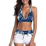8865b50f0c0fb Century Star Women's Printed Swimdress Floral Swimwear Two Piece Slimming  Skirt Swimsuit with Boyshorts