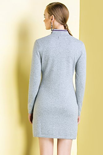 Zhili Women's 100% Pure Cashmere Roll Neck Long Sleeve