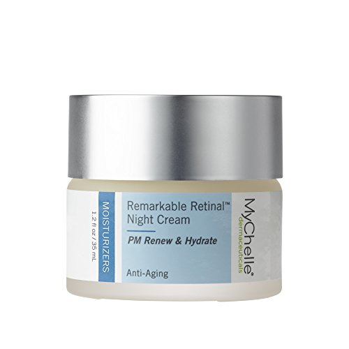 MyChelle Remarkable Retinal Night Cream, Nutrient-Rich Moisturizer with Vitamin A for All Skin Types, 1.2 fl - Deep Cream Repair Mychelle