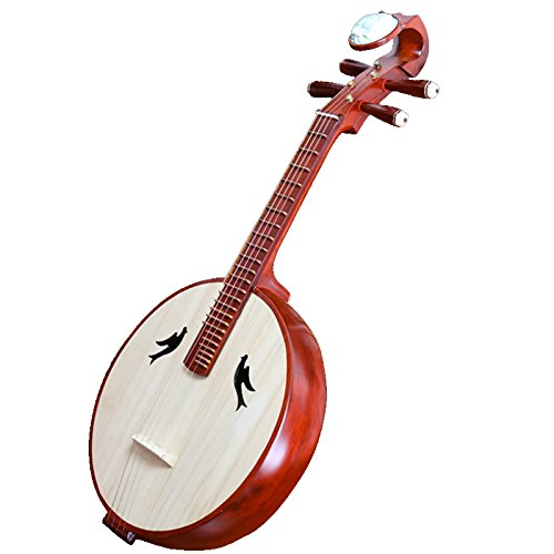 OrientalMusicSanctuary Performer's Hardwood Zhongruan - Chinese Ruan Lute by OrientalMusicSanctuary