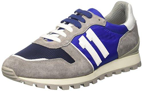 Bikkembergs Numb-Er 856, Zapatillas de Estar por Casa para Hombre Blu (Blue/grey)