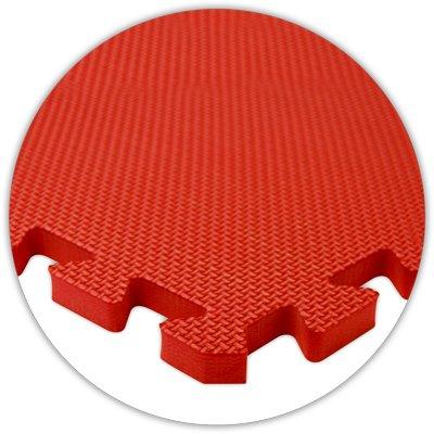 "Premium SoftFloor Flooring, 20'x20' Floor, Red, 5/8"" thick -"