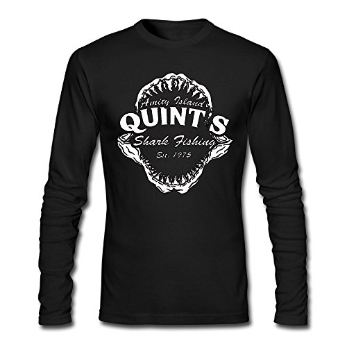 Price comparison product image Men's Adult Classic Leisure Quint S Shark Fishing Long Sleeve Tshirt