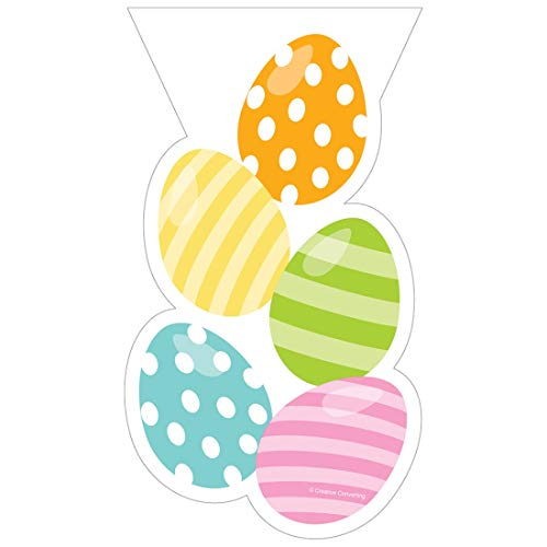 Easter Egg Toss Cello Bags with Ties 20 Ct