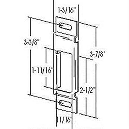 41djp3x31VL._SX425_ amazon com rv trailer deadbolt strike rectangular entry door latch