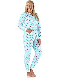 5041370b063c Women s Sleepwear Plush Fleece Non-Footed Onesie Pajamas