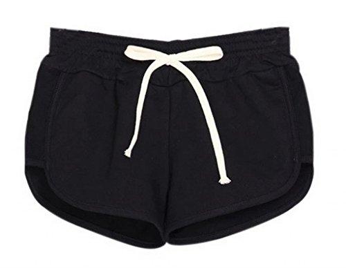 EOZY Schwarz Damen Hotpants Shorts Badeshorts Schwimmshorts XS Taille:65cm