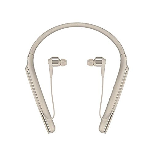 Sony WI1000X Premium Noise Cancelling Wireless Behind-Neck in Ear Headphones (International Version/Seller Warranty) (Gold)
