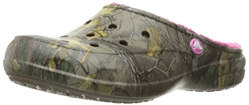 Chocolate Freesail Mule Realtree Fuchsia Women's Crocs Lined aFnXxH7wq5