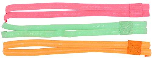 Headbands For Womens Hair Non Slip - Womens Yoga Headbands Pack Of 3 Elastic Headband Double Strip Hairband Antiskid Girls Headwear For Yoga, Running, Sports & Exercising (Green/Orange/Pink, 3PCS)