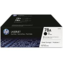 HP 78A (CE278A) Black Toner Cartridge, 2 Toner Cartridges (CE278D)