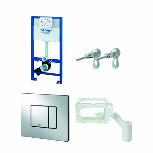 GROHE 38888000 1 m 4-inch Rapid SL WC Frame includes Skate Cosmo Wall Plate and GROHE (Rapid Sl Skate)